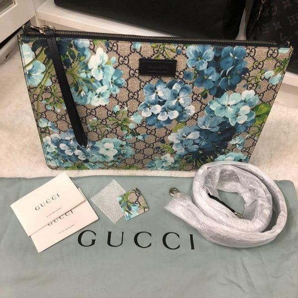 Brand New Gucci Blooms Blue Pouch with Removable Long Strap Gucci Kuala Lumpur, KL, Selangor, Malaysia. Supplier, Retailer, Supplies, Supply | The Luxury Brand