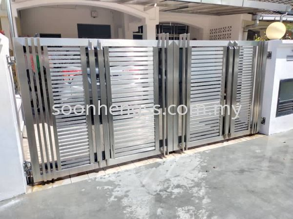 MAIN GATE STAINLESS STEEL Johor Bahru (JB), Skudai, Malaysia Contractor, Manufacturer, Supplier, Supply | Soon Heng Stainless Steel & Renovation Works Sdn Bhd