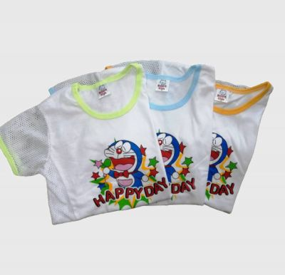 3 or 6 pcs / lot Children Kids T-Shirt Side hole Baju T-shirt Lobang Budak