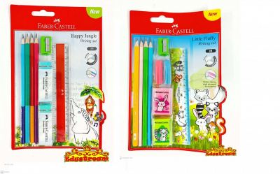 FABER CASTELL LITTLE FLUFFY / HAPPY JUNGLE WRITING SET
