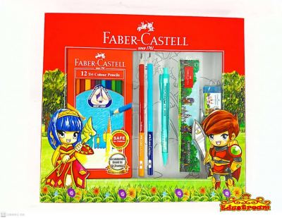 FABER CASTELL GIFT SET CASTLE HEROES COLOURING