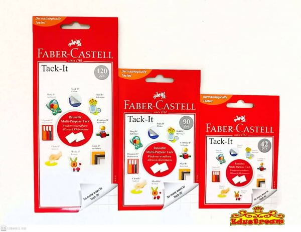 FABER CASTELL TACK-IT  42 / 90 / 120 PCS Tape Stationery & Craft Johor Bahru (JB), Malaysia Supplier, Suppliers, Supply, Supplies   Edustream Sdn Bhd