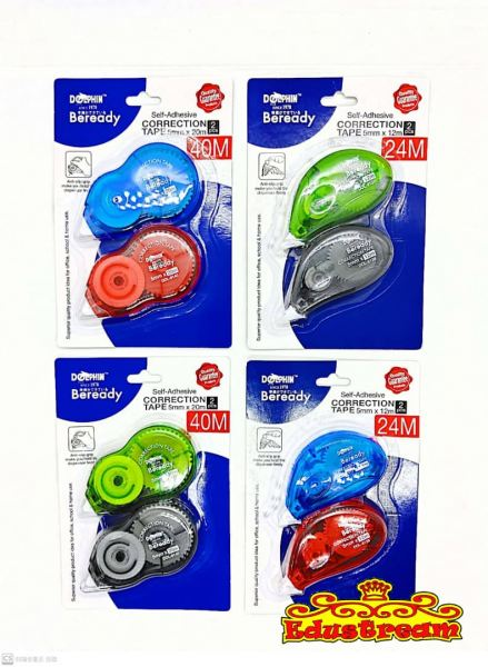 DOLPHIN CORRECTION TAPE 5 MM x 20 M Correction Tape Stationery Johor Bahru (JB), Malaysia Supplier, Suppliers, Supply, Supplies   Edustream Sdn Bhd