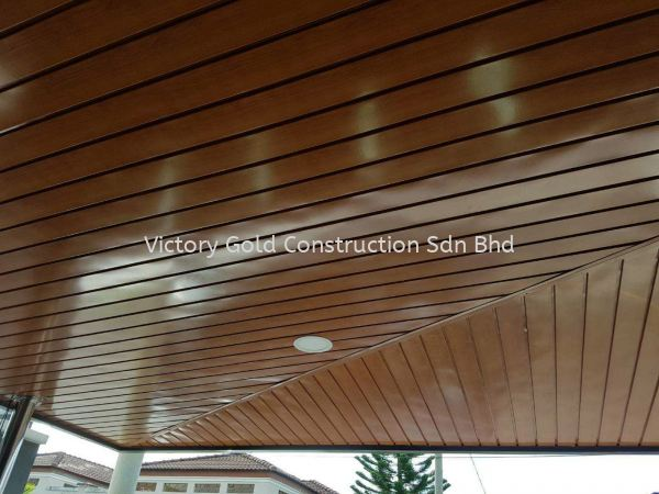 Metal ceiling stripe. Awning Melaka, Malaysia, Bukit Katil Service, Supplier, Supply, Supplies   VICTORY GOLD CONSTRUCTION SDN BHD