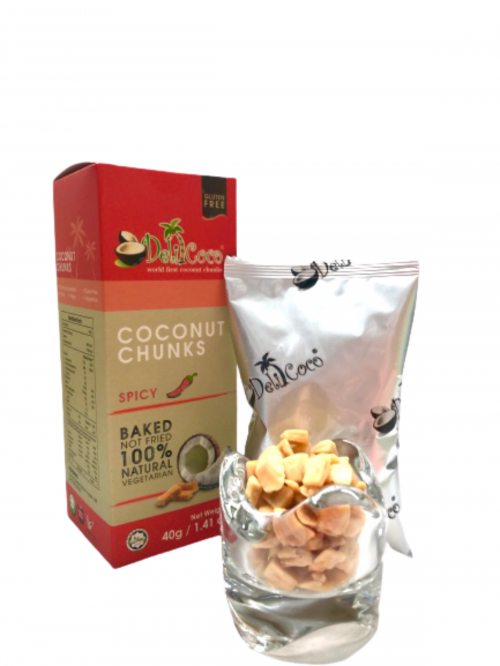 [ 48 Boxes x 1 Carton ] 40g Coconut Chunks Spicy (ORP : RM 9.90 / Box.)