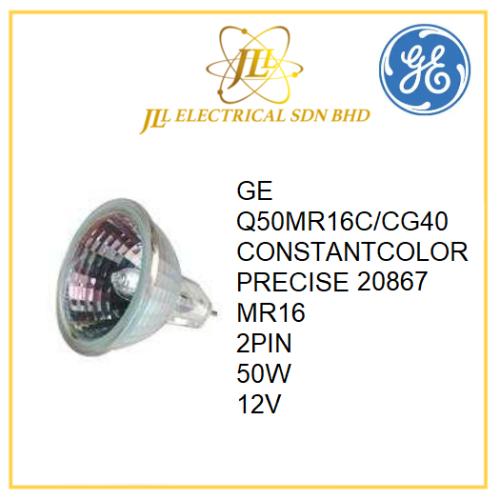 GE CONSTANTCOLOR PRECISE Q50MR16C/CG40 12V 20867 HALOGEN BULB