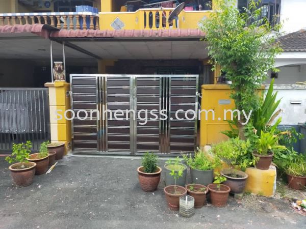 OPEN DOOR MAIN GATE STAINLESS STEEL Johor Bahru (JB), Skudai, Malaysia Contractor, Manufacturer, Supplier, Supply | Soon Heng Stainless Steel & Renovation Works Sdn Bhd