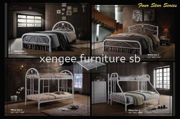 White Star Metal Bed Frame Bedroom Johor, Malaysia, Muar Supplier, Suppliers, Supply, Supplies | XENG EE FURNITURE SDN BHD