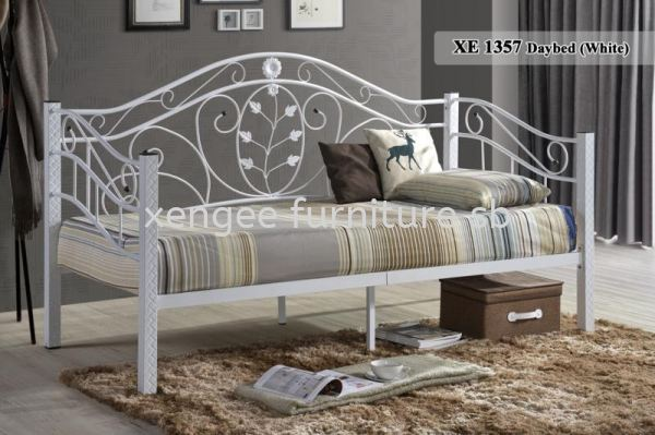 XE 1357 Daybed (White) Metal Bed Frame Bedroom Johor, Malaysia, Muar Supplier, Suppliers, Supply, Supplies   XENG EE FURNITURE SDN BHD