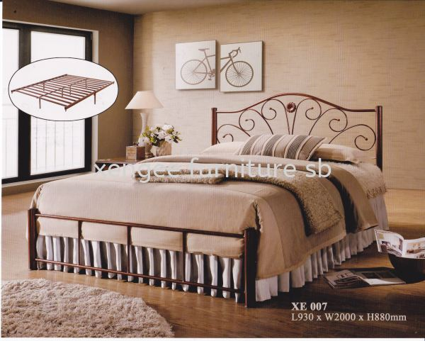 XE 007 Metal Bed Frame Bedroom Johor, Malaysia, Muar Supplier, Suppliers, Supply, Supplies | XENG EE FURNITURE SDN BHD