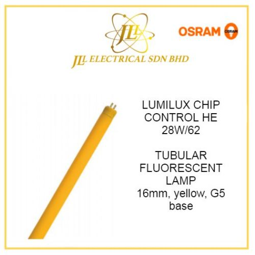 OSRAM LUMILUX CHIP CONTROL HE 28W/62 T5 TUBE YELLOW G5 Base