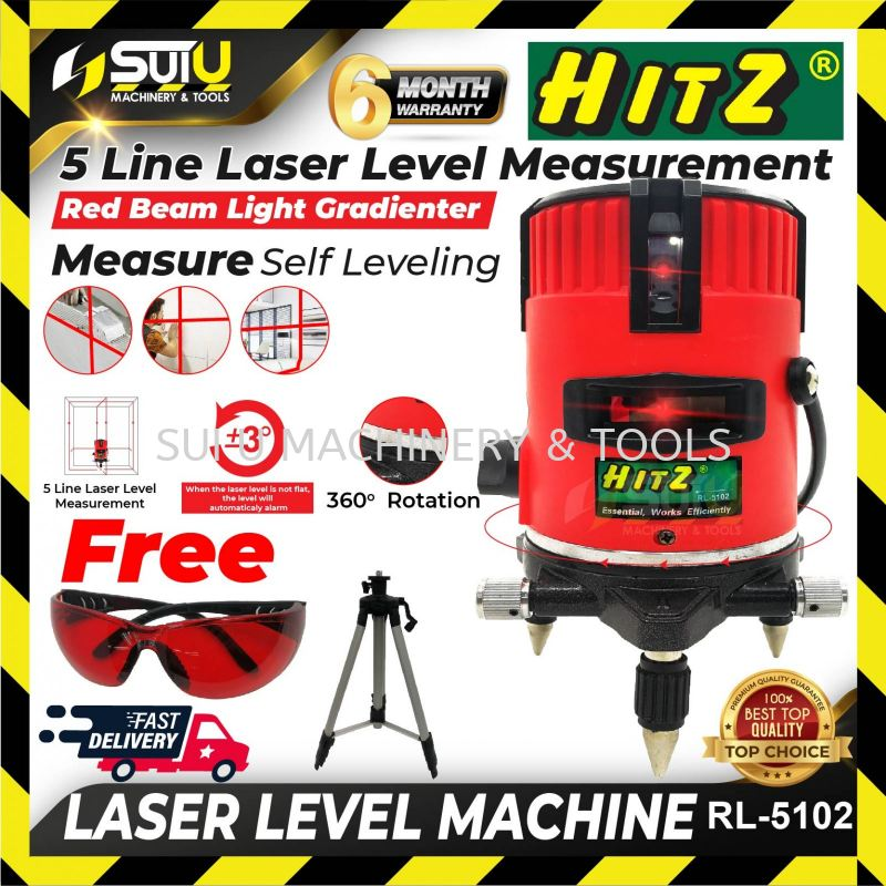 HITZ RL-5102 Professional Automatic Laser Line Level
