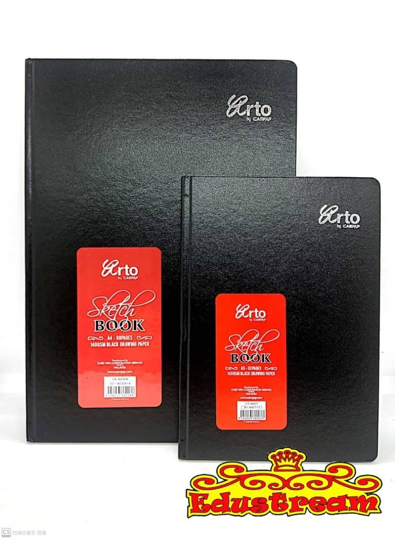 Campap Hard Cover Sketch Book Black Paper