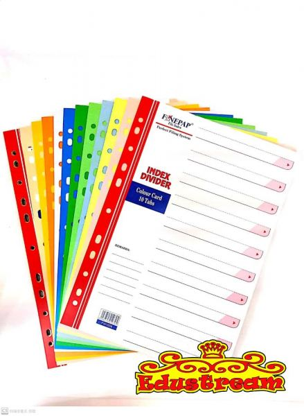 FINEPAP ASST COLOUR CARD INDEX DIVIDER ( 5 / 10 TABS ) Labels Paper Product Stationery & Craft Johor Bahru (JB), Malaysia Supplier, Suppliers, Supply, Supplies | Edustream Sdn Bhd