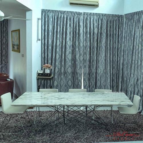 Luxury White Marble Table | Arabescato Corchia | 8-10 seater