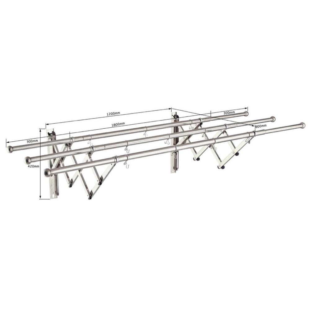 GH94-1713 3 Tube Retractable Clothes Rack