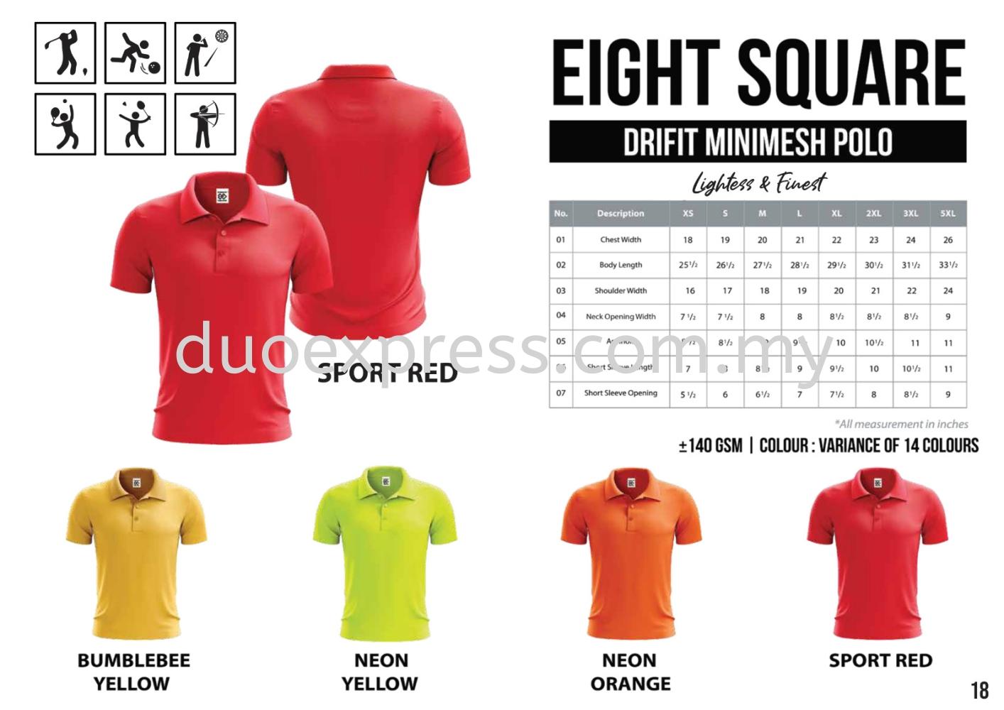 EIGHTSQUARE Drifit Microfibre Collar T Shirt  1