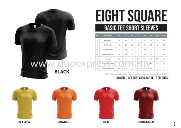 EIGHTSQUARE Cotton Adults Roundneck T Shirt S.Sleeve 1 Cotton BAJU EIGHT SQUARE ( READY STK) Malaysia, Selangor, Kuala Lumpur (KL), Petaling Jaya (PJ) Supplier, Suppliers, Supply, Supplies | Duo Express