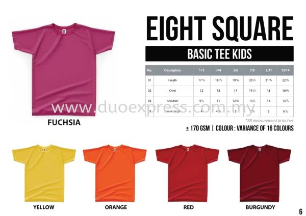 EIGHTSQUARE Cotton Kids Roundneck T Shirt S.Sleeve 1 Cotton BAJU EIGHT SQUARE ( READY STK) Malaysia, Selangor, Kuala Lumpur (KL), Petaling Jaya (PJ) Supplier, Suppliers, Supply, Supplies | Duo Express