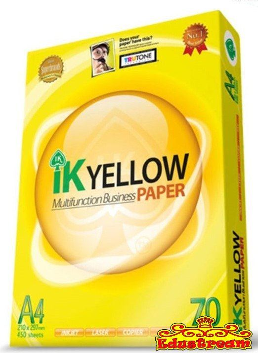 IK YELLOW MULTIFUNCTION BUSINESS PAPER 70GSM A4 SIZE