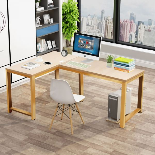 L-Shape Working Desk / Study Table with Powder Coated Metal Frame Office Table Office Furniture Malaysia, Selangor, Kuala Lumpur (KL) Supplier, Suppliers, Supply, Supplies | Like Bug Sdn Bhd