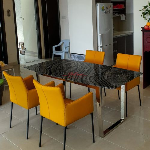 Luxury Dining Table | Antique Wood | 6 Seaters
