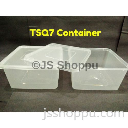 TSQ7 Square Plastic Disposable Food Container (30pcs±)