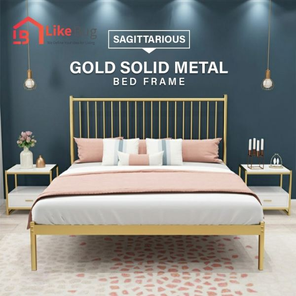 Sagittarious Gold Metal Bed Frame Bedframe Bedroom Malaysia, Selangor, Kuala Lumpur (KL) Supplier, Suppliers, Supply, Supplies | Like Bug Sdn Bhd