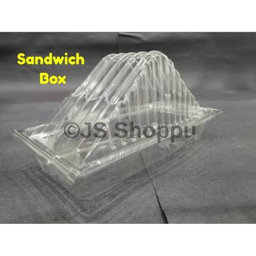 Sandwich Box BX-SE 20 / Disposable Plastic Clear Bakery Container (100pcs+-)