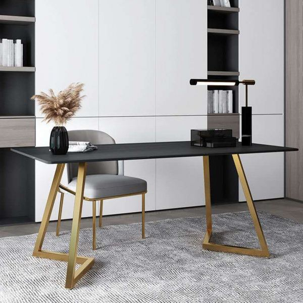 Dahlia Marble Texture Study Table Office Table Office Furniture Malaysia, Selangor, Kuala Lumpur (KL) Supplier, Suppliers, Supply, Supplies | Like Bug Sdn Bhd