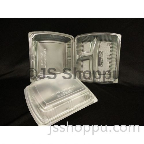 Disposable 3 Compartment PP Lunch Box - BX-190 (50pcs±)