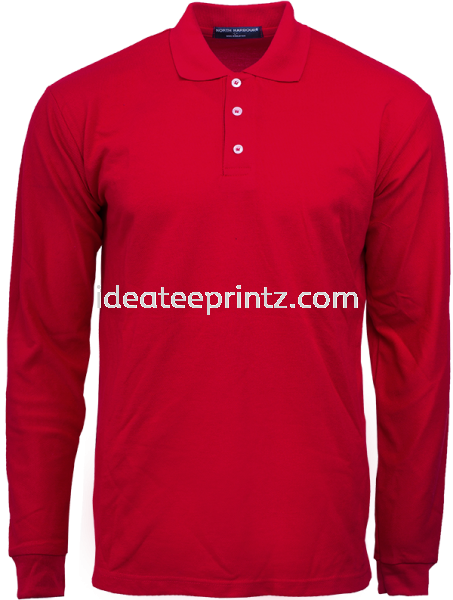NHB24413 RED COTTON POLO UNISEX  NORTH HARBOUR Kuala Lumpur (KL), Malaysia, Selangor, Cheras, Kepong Supplier, Suppliers, Supply, Supplies | Win Work Marketing