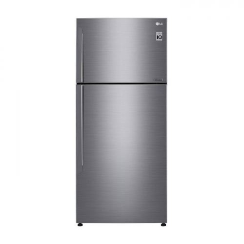 LG Nett 509L Top Freezer Refrigerator with DoorCooling+ & Inverter Linear Compressor , Platinum Silver LG-GNC702HLCC