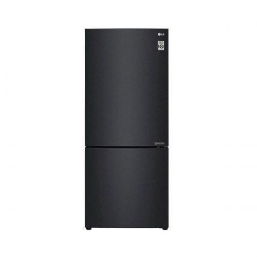 LG Nett 420L Bottom Freezer Refrigerator with DoorCooling+ & Inverter Linear Compressor, Matte Black LG-GCB529NQCZ