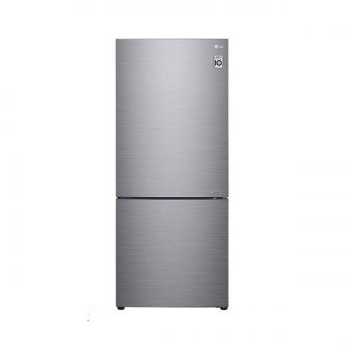LG Nett 420L Bottom Freezer Refrigerator with DoorCooling+ & Inverter Linear Compressor, Platinum Silver LG-GCB529NLCZ