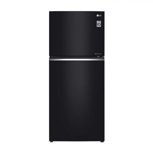 LG Nett 393L TOP FREEZER Refrigerator with DoorCooling+Inverter Linear Compressor , Black Glass LG-GNC422SGCC
