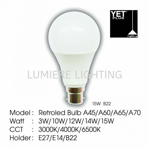 YET LIGHT BULB B22 15W