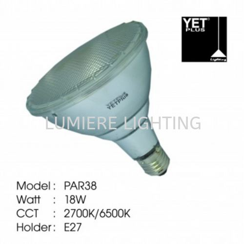 YET LIGHT BULB PAR38 18W