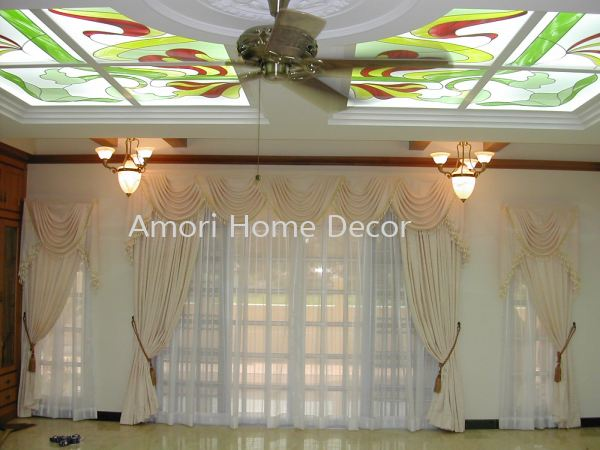 Curtain with Scallop Curtain & Lace Perak, Malaysia, Ipoh Supplier, Suppliers, Supply, Supplies | Amori Home Decor Sdn Bhd