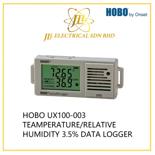 HOBO UX100-003 TEAMPERATURE/RELATIVE HUMIDITY 3.5% DATA LOGGER