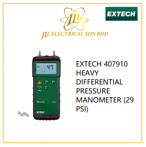 EXTECH 407910 HEAVY DIFFERENTIAL PRESSURE MANOMETER (29 PSI)