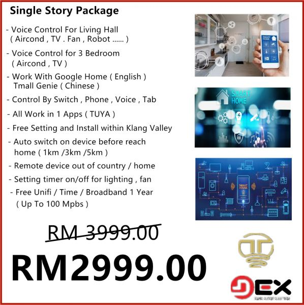 SINGLE STORY SMARTHOME PACKAGE SMART HOME PRODUCT Selangor, Malaysia, Kuala Lumpur (KL), Puchong Supplier, Suppliers, Supply, Supplies | TT Lighting