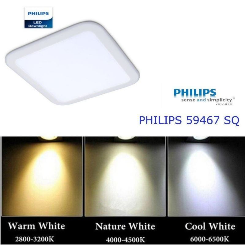 "PHILIPS 6"" 17W SQUARE LED DOWNLIGHT"