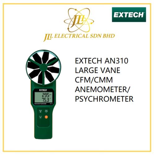 EXTECH AN310 LARGE VANE CFM/CMM ANEMOMETER/PSYCHROMETER