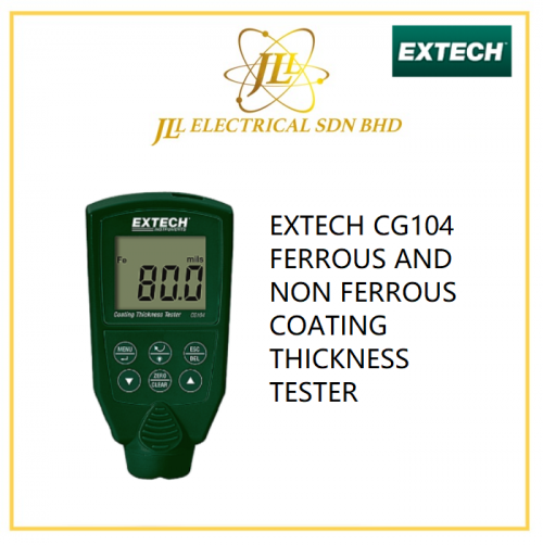 EXTECH CG104 FERROUS AND NON FERROUS COATING THICKNESS TESTER