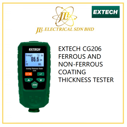 EXTECH CG206 FERROUS AND NON-FERROUS COATING THICKNESS TESTER