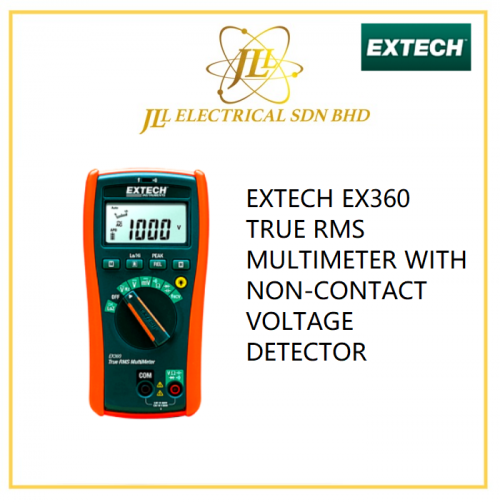 EXTECH EX360 TRUE RMS MULTIMETER WITH NON-CONTACT VOLTAGE DETECTOR
