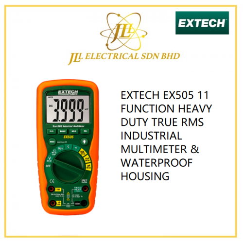 EXTECH EX505 11 FUNCTION HEAVY DUTY TRUE RMS INDUSTRIAL MULTIMETER & WATERPROOF HOUSING