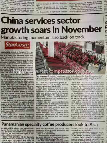 China Services sector growth soars in November 2020