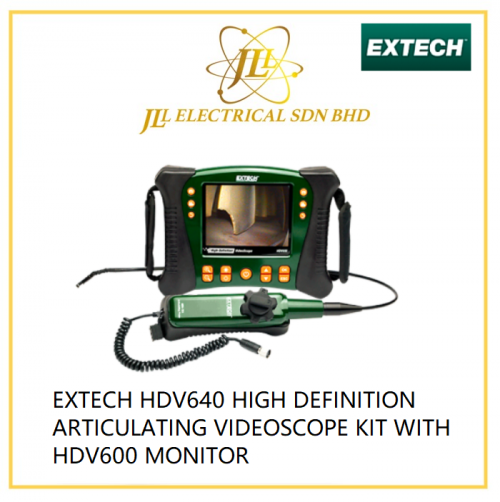 EXTECH HDV640 HIGH DEFINITION ARTICULATING VIDEOSCOPE KIT WITH HDV600 MONITOR